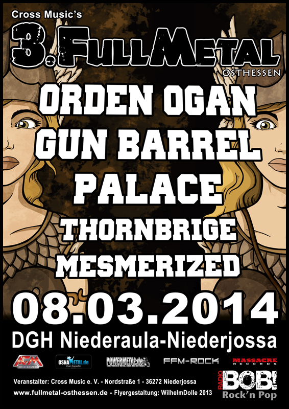 FULL METAL Osthessen 2014 Flyer